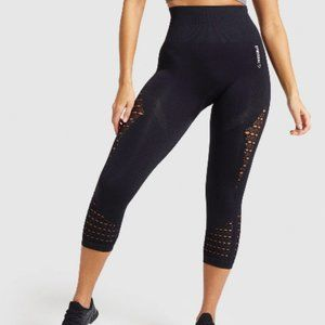 NWT GYMSHARK ENERGY SEAMLESS CROPPED LEGGINGS